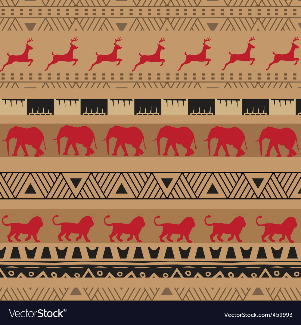 Safari pattern vector image
