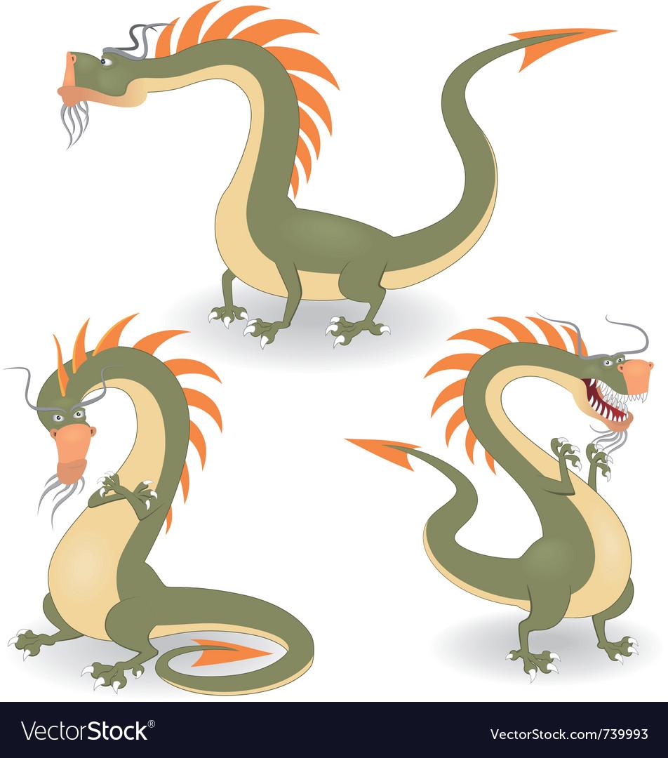 Cartoon dragons vector image