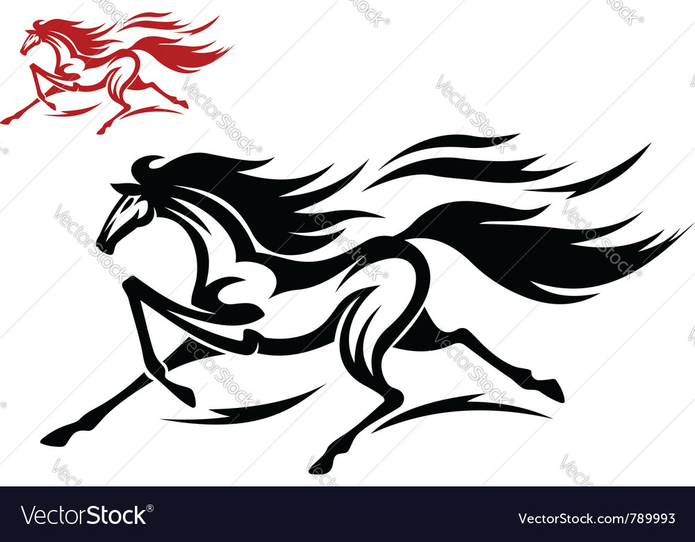 Mustang horse vector image