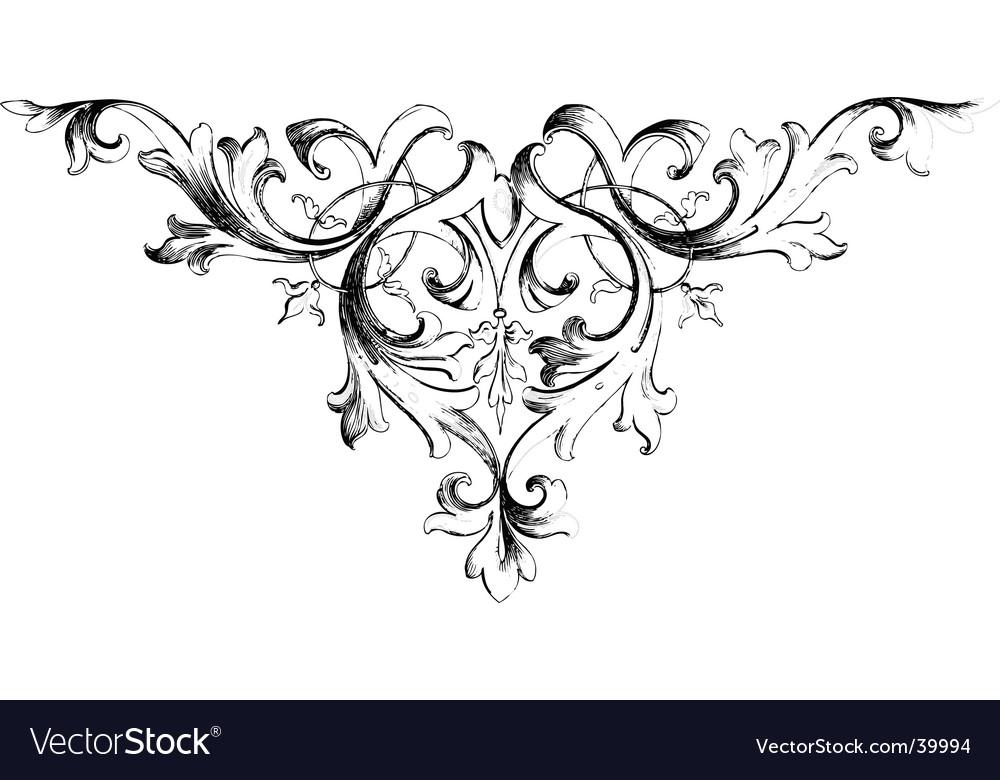 vintage floral motif royalty free vector image. Black Bedroom Furniture Sets. Home Design Ideas