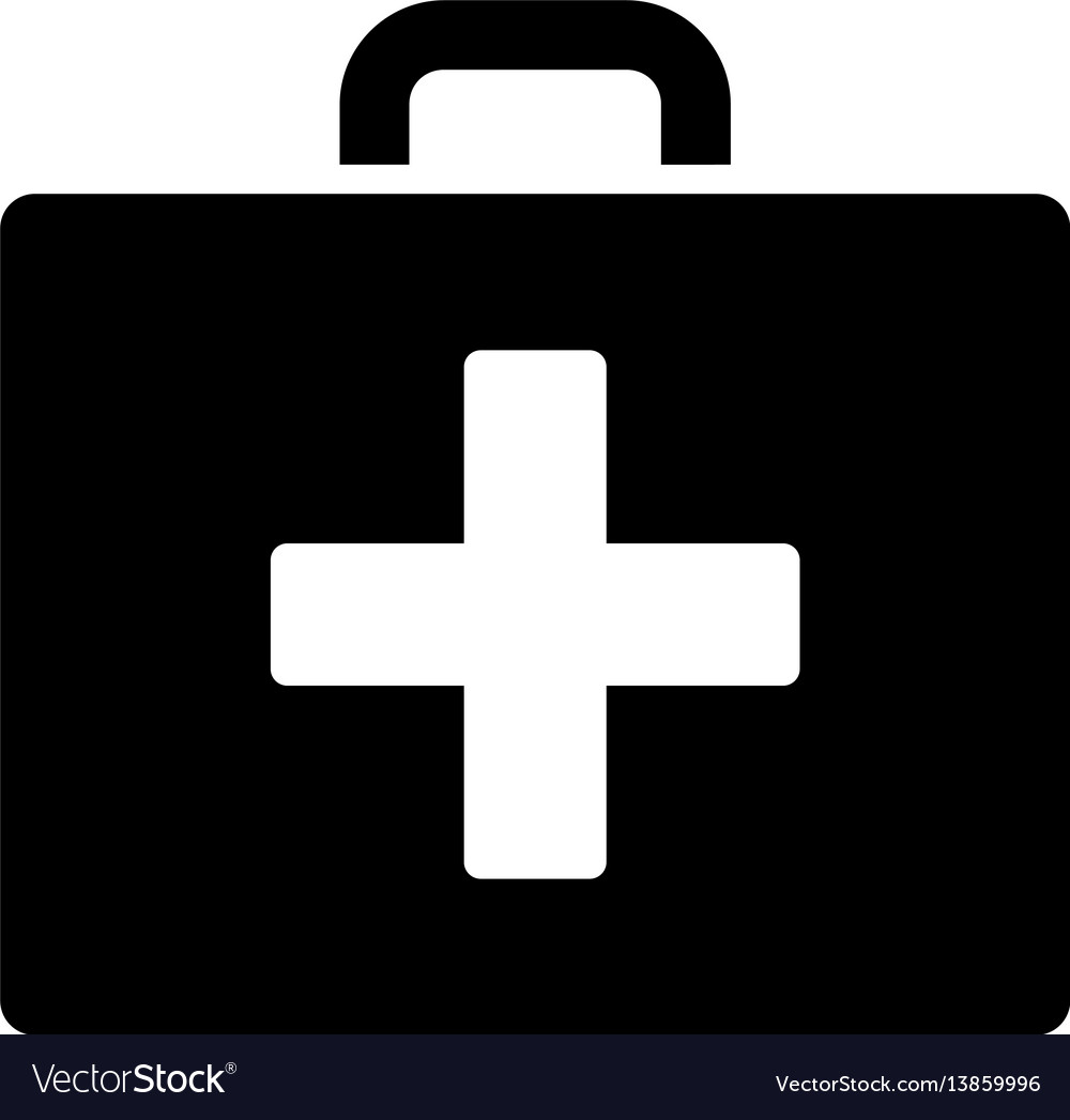 First aid bag flat icon vector image