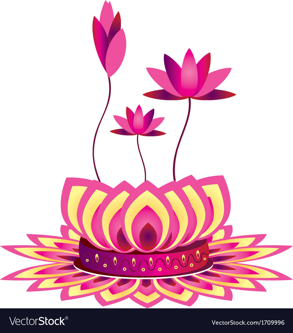 Lotus flower design royalty free vector image vectorstock lotus flower design vector image izmirmasajfo Gallery