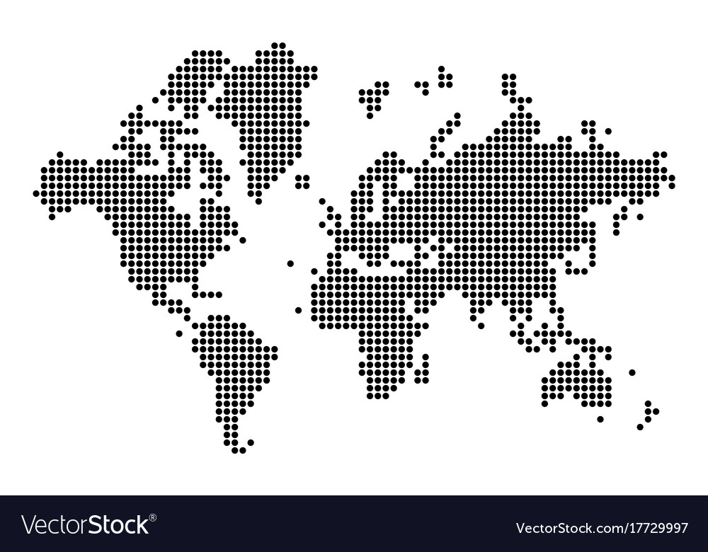 World map silhouette world map in dots royalty free vector world map silhouette world map in dots vector image gumiabroncs Images