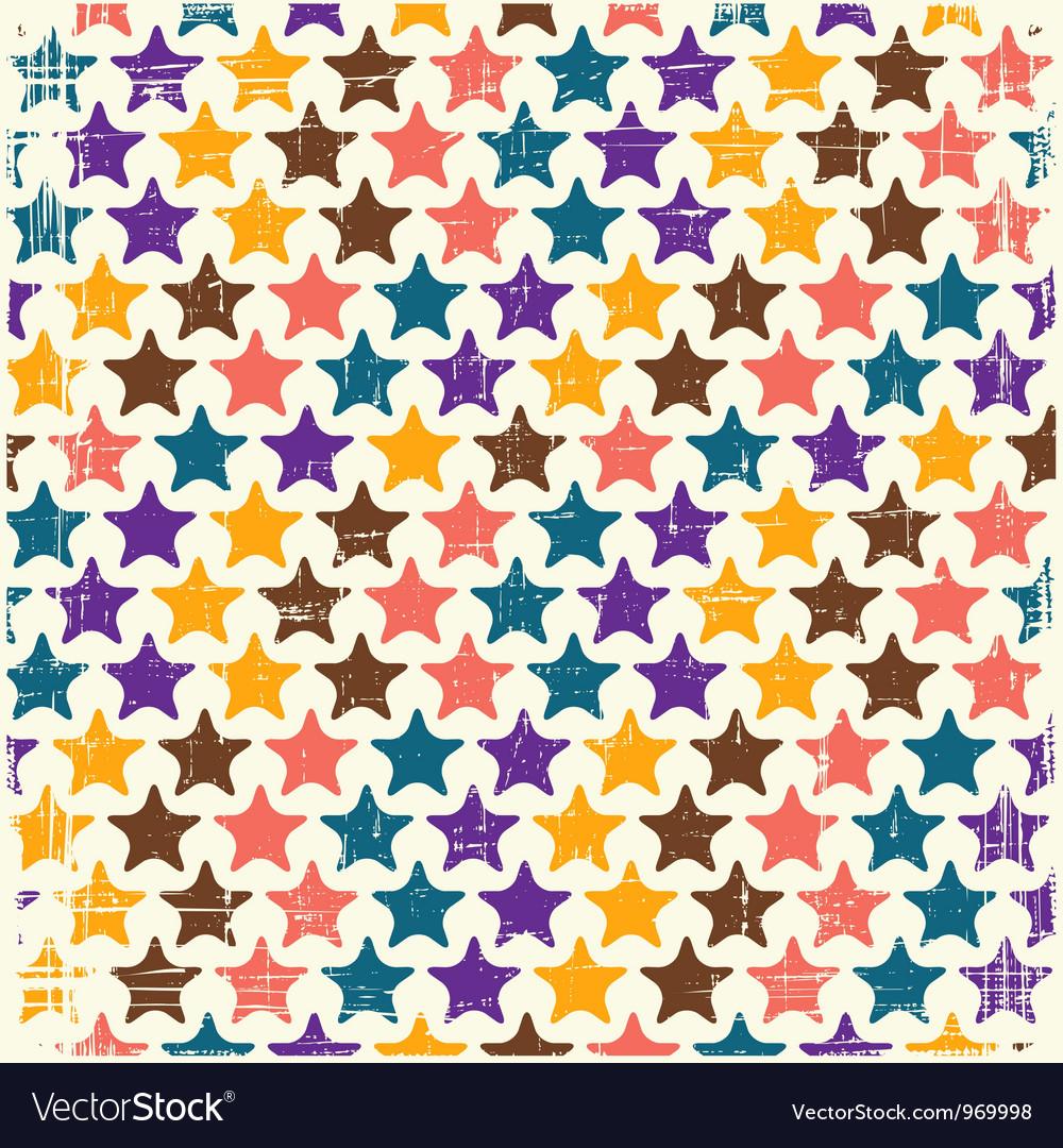 Retro seamless stars pattern Vector Image