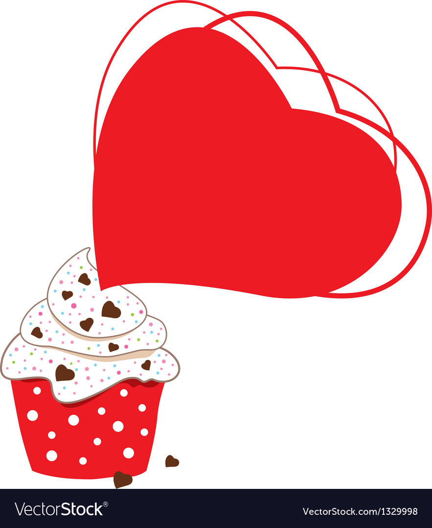 Cupcakes design on white background vector image