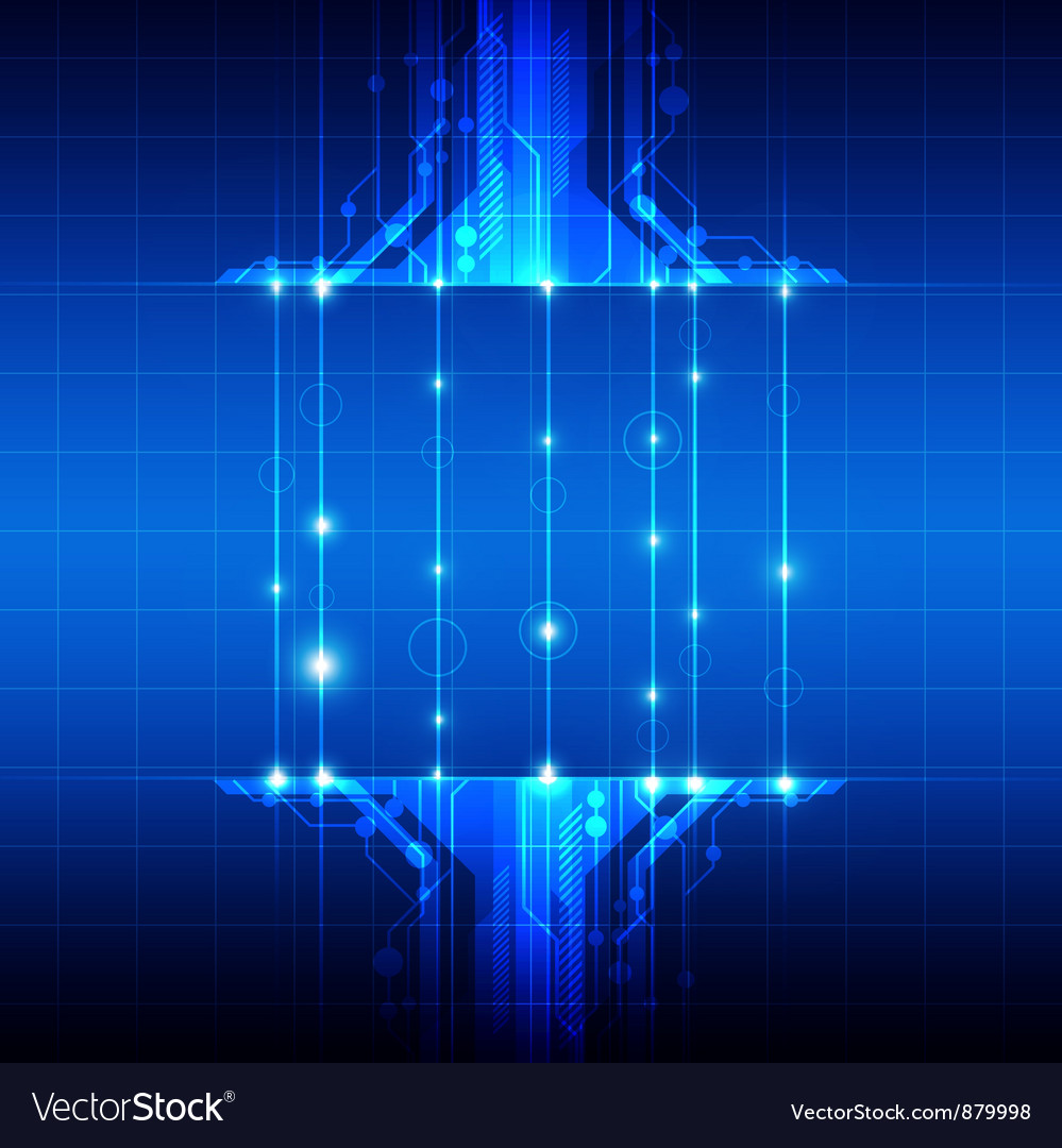 Technology with fiber optic vector image