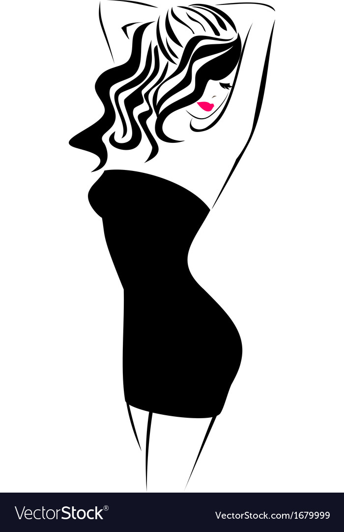 Fashion Icon Girl Royalty Free Vector Image Vectorstock