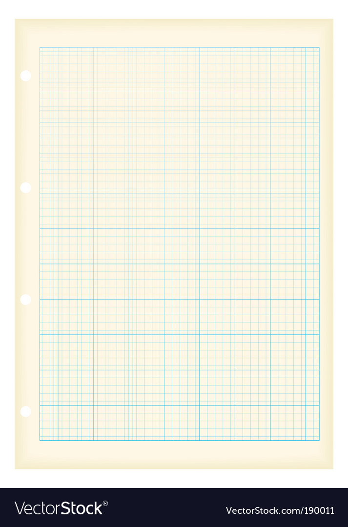 Grunge graph paper vector