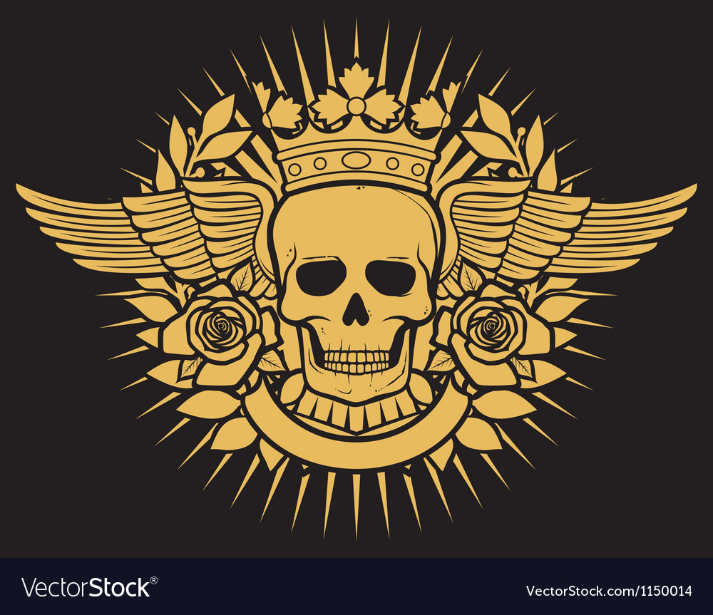 Skull symbol  skull tattoo design vector