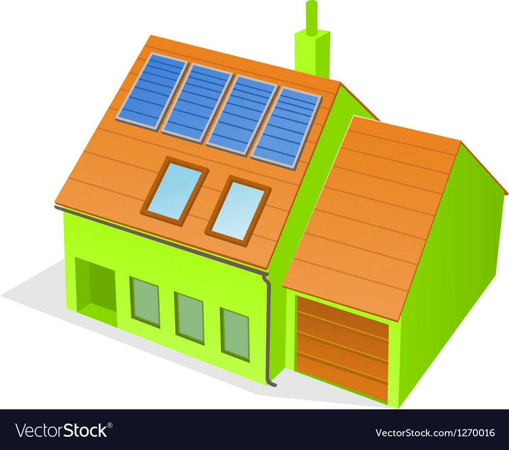 Green family house vector