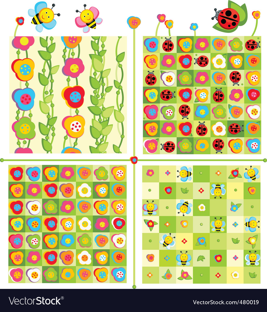 Cute pattern vector