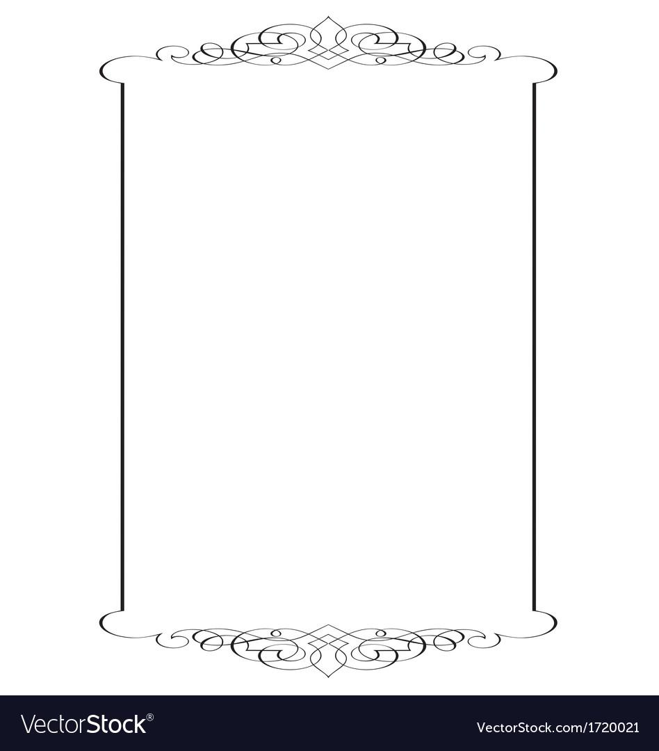 Decorative page border vector by rheyes - Image #1720021 - VectorStock