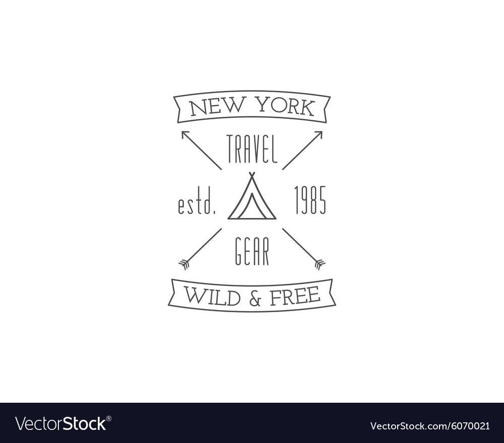 Vintage travel store camping badge outdoor logo