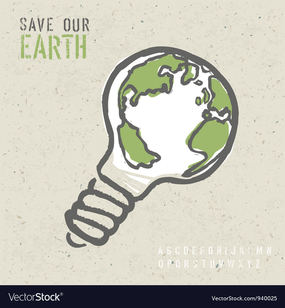 Global ecology concept vector