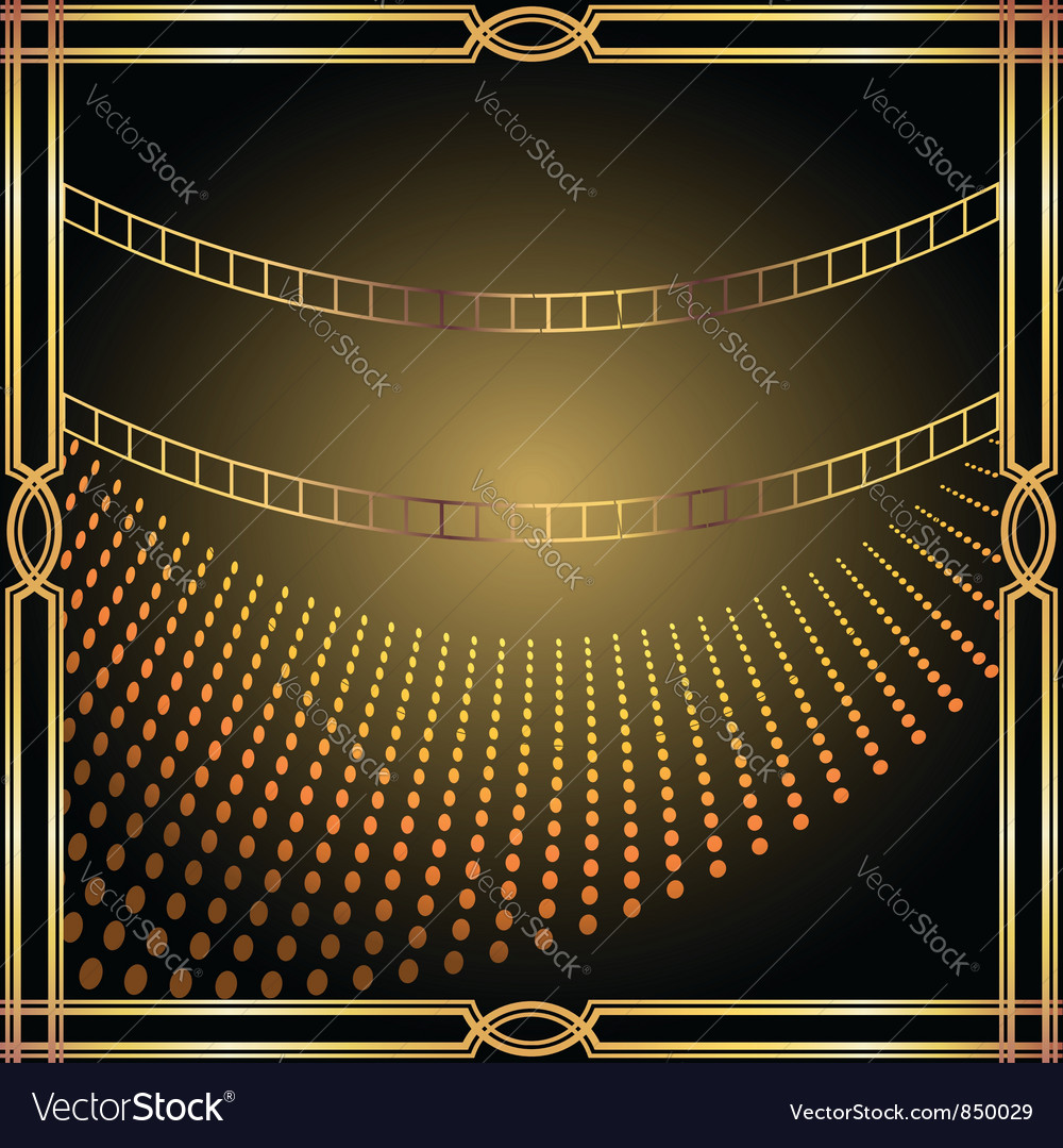 Metallic frame vector