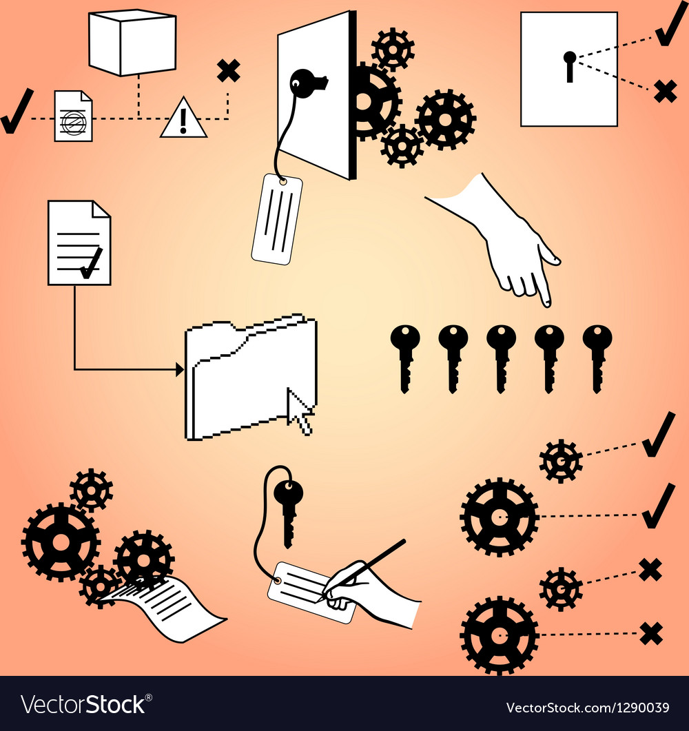 Access infographic elements vector