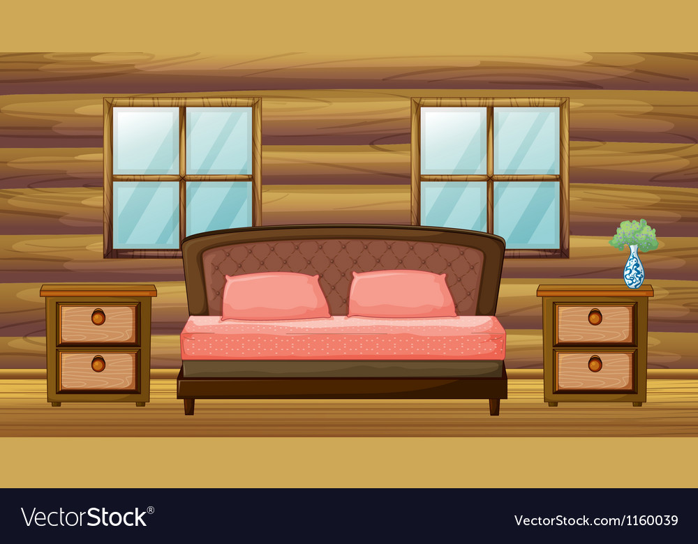 An organized bedroom vector