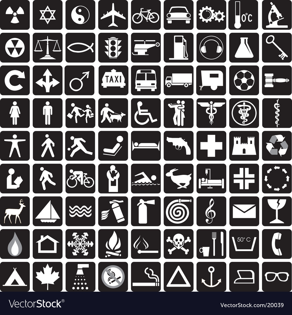 Symbols collection vector