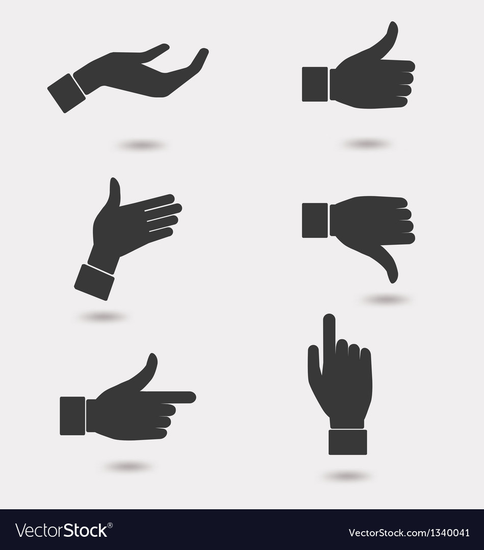 Business hand icon vector