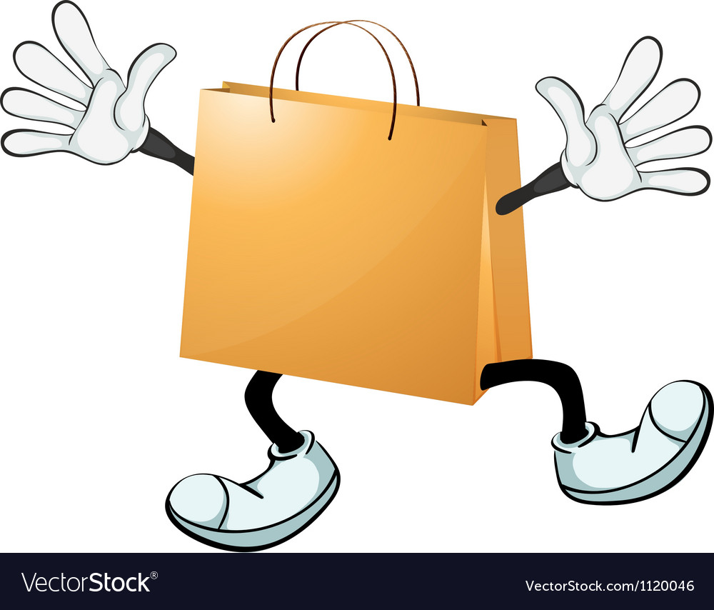 A yellow bag vector