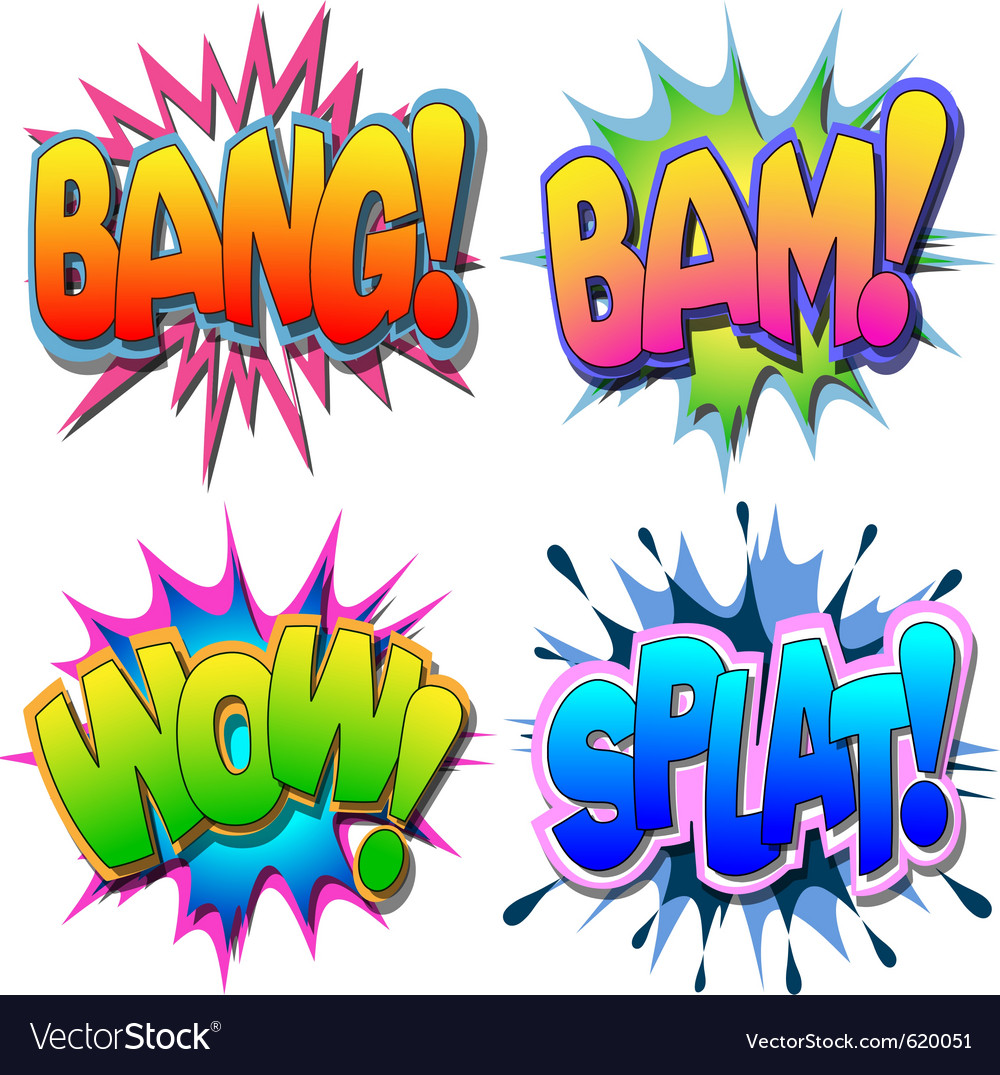 Comic book vector