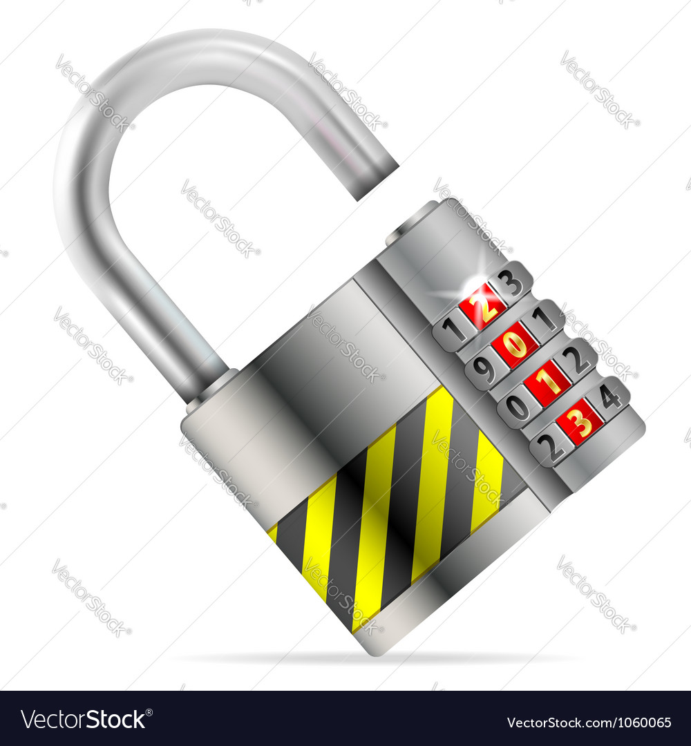Unlock new year concept vector