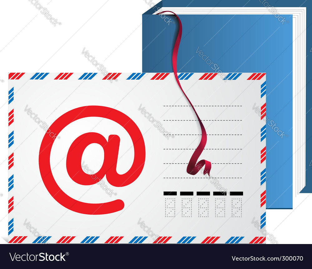 Email address book vector