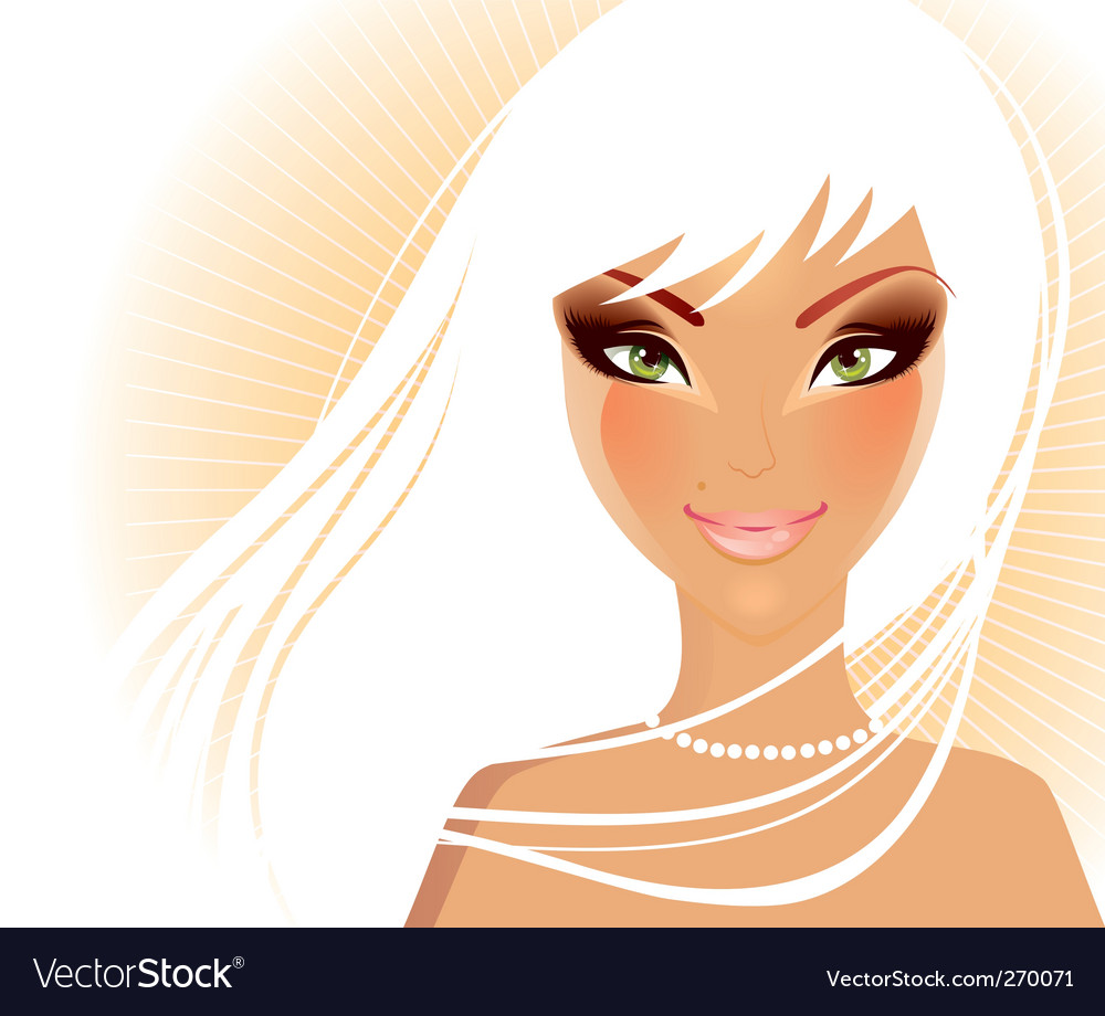 Women face blond vector