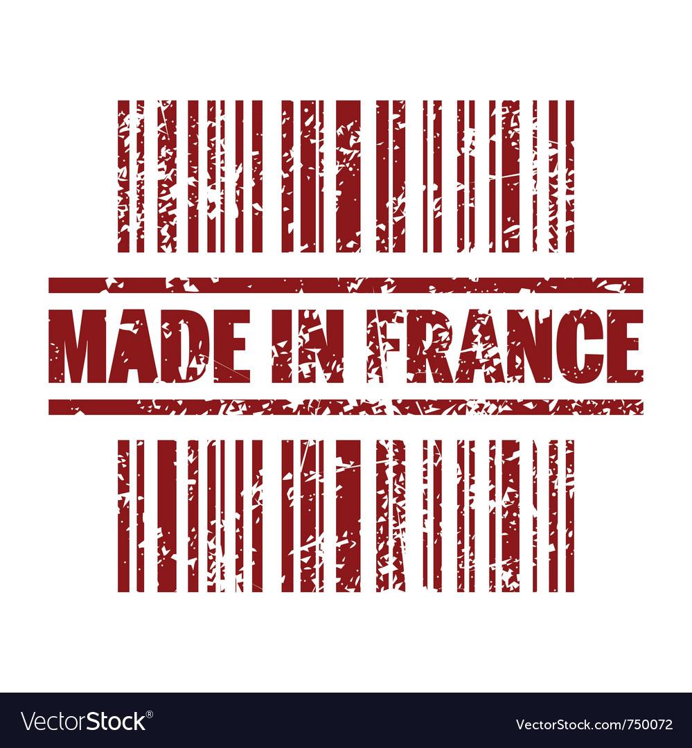 Made in france icon vector