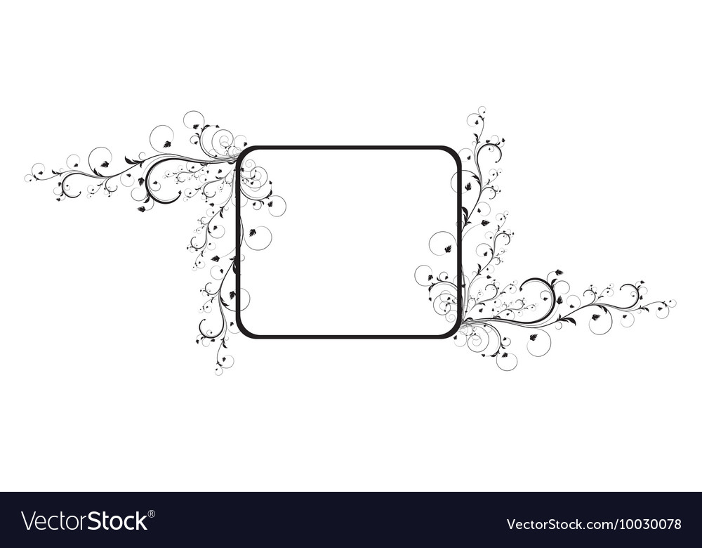 Abstract of a floral frame with lots of leaves