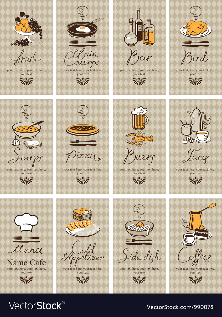 Different dishes vector