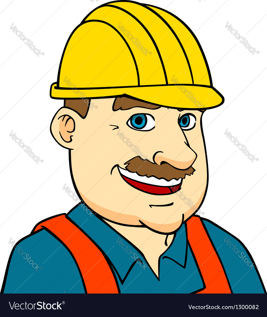 Builder man or engineer vector