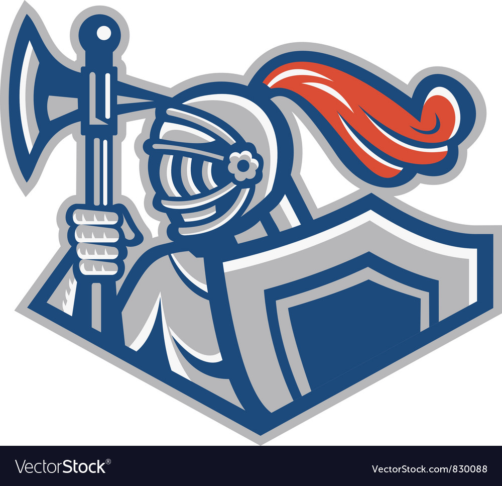 Knight shield symbol vector