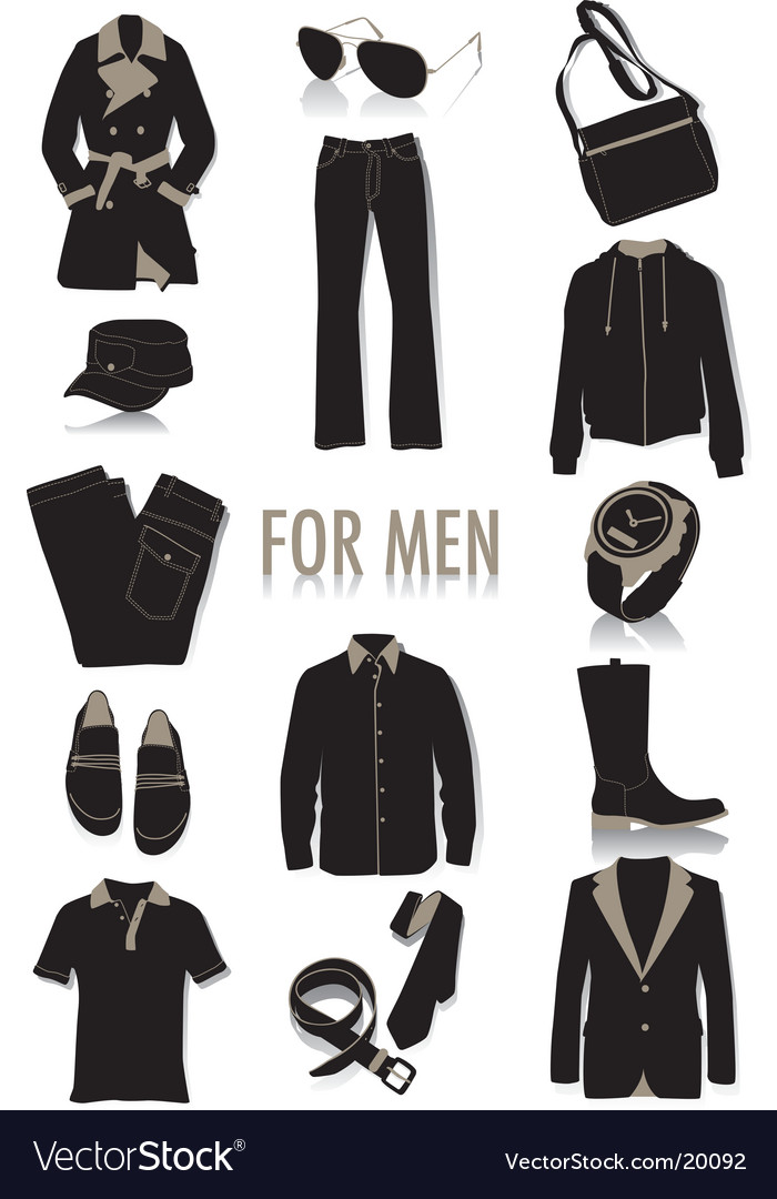 Mens fashion vector