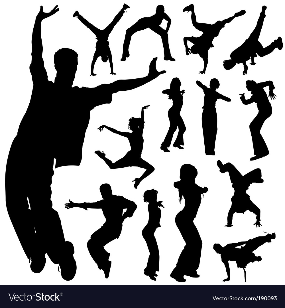 Dancing people set vector