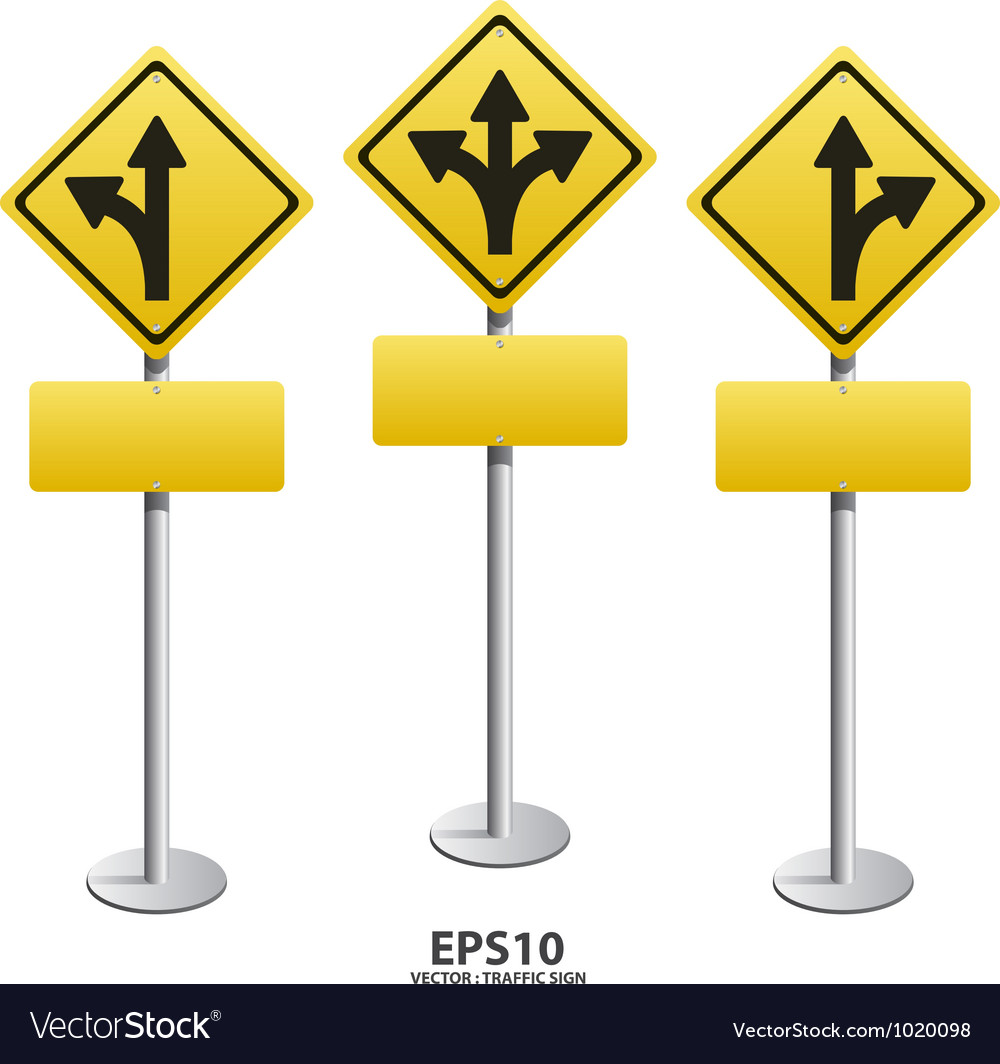 Signs straight vector
