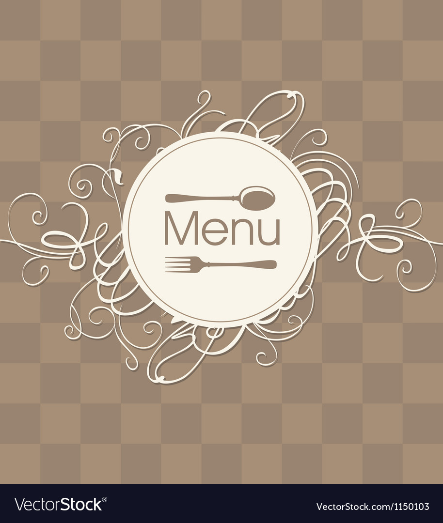 Menu with a flourish vector