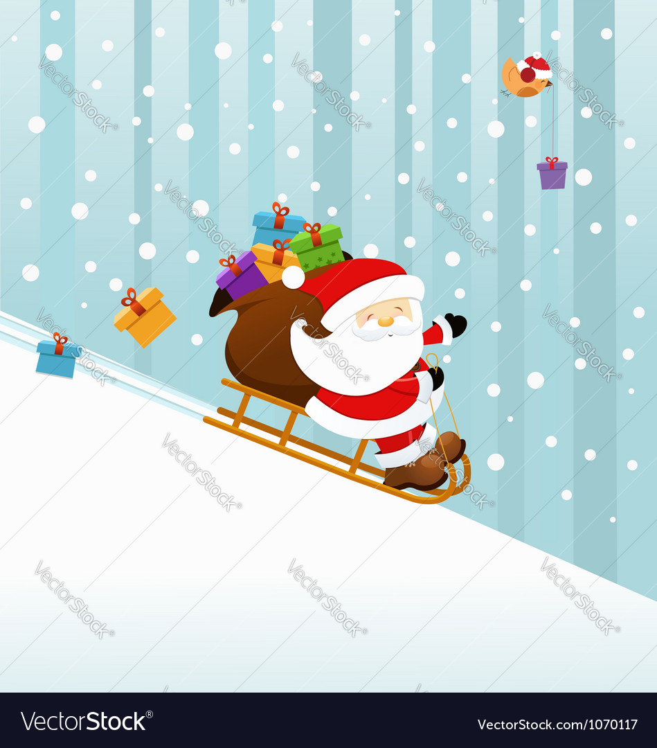 Santaon sledge vector