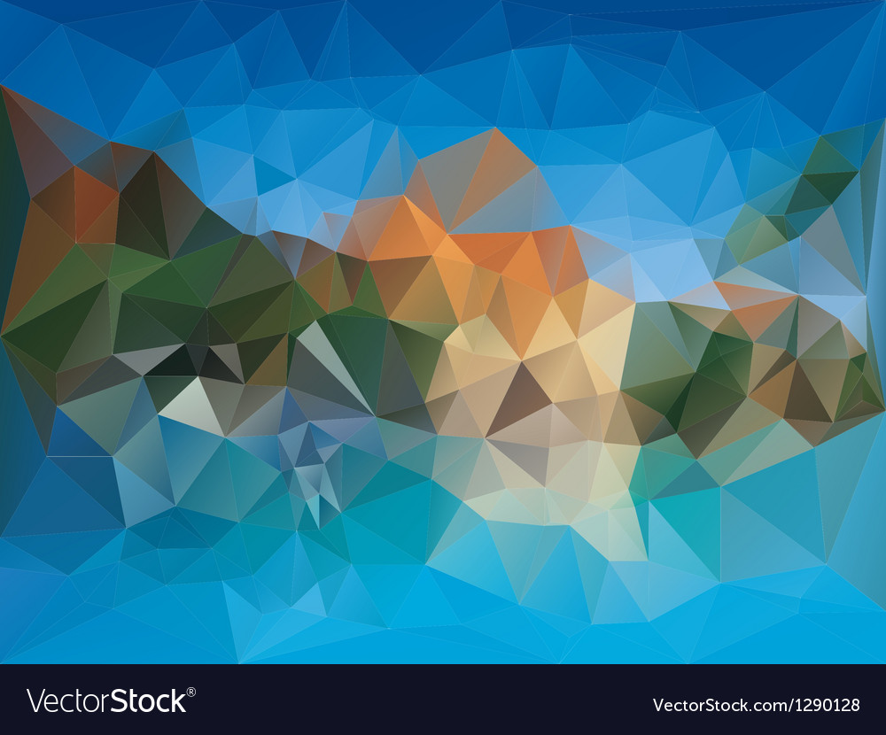 Geometric fragments background vector