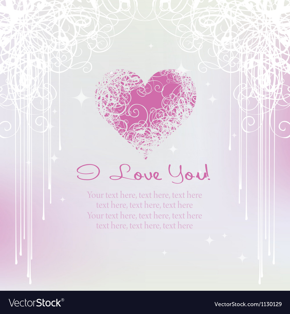 Card for valentine day vector
