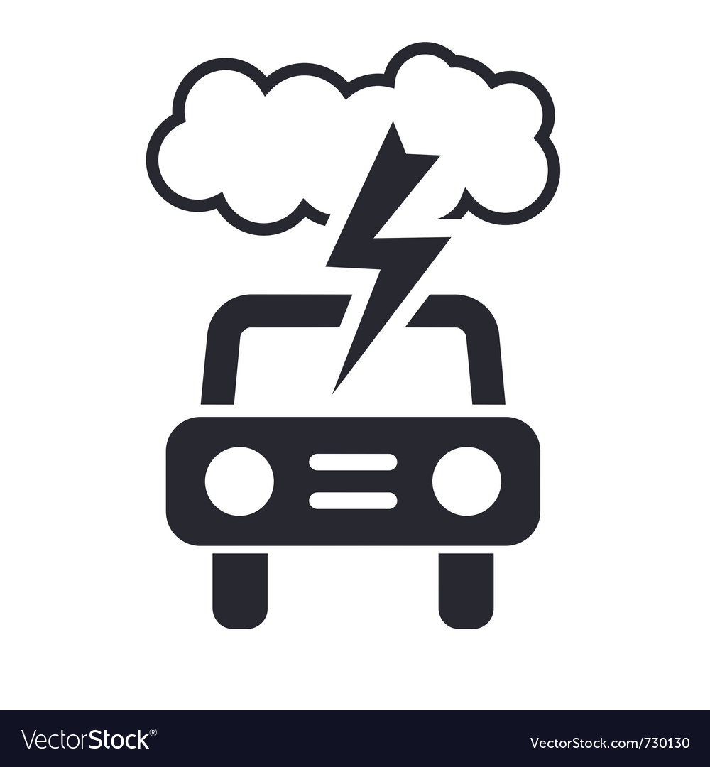 Car storm icon vector