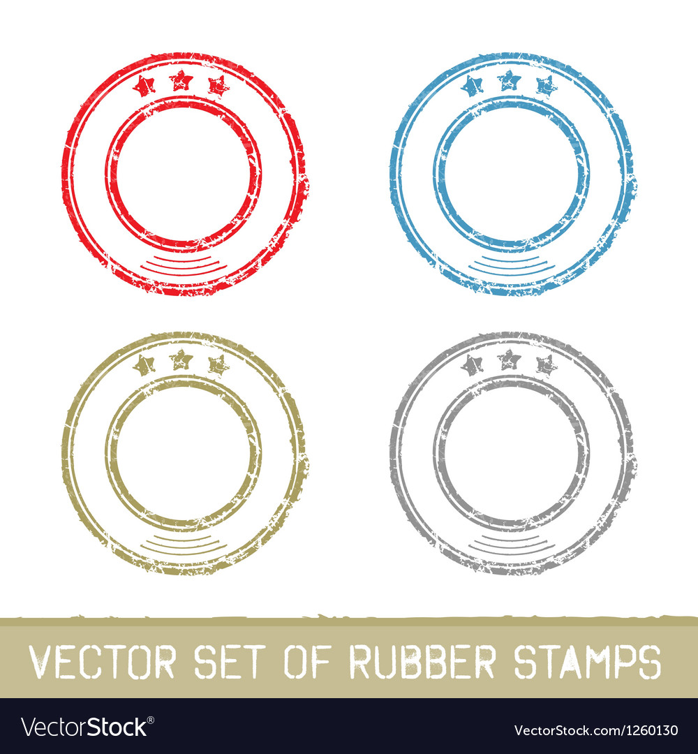Set of rubber stamps vector