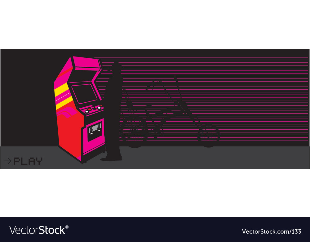 Free arcade video game vector