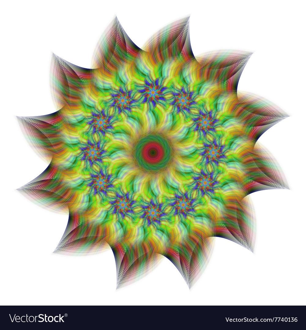Abstract fractal flower design