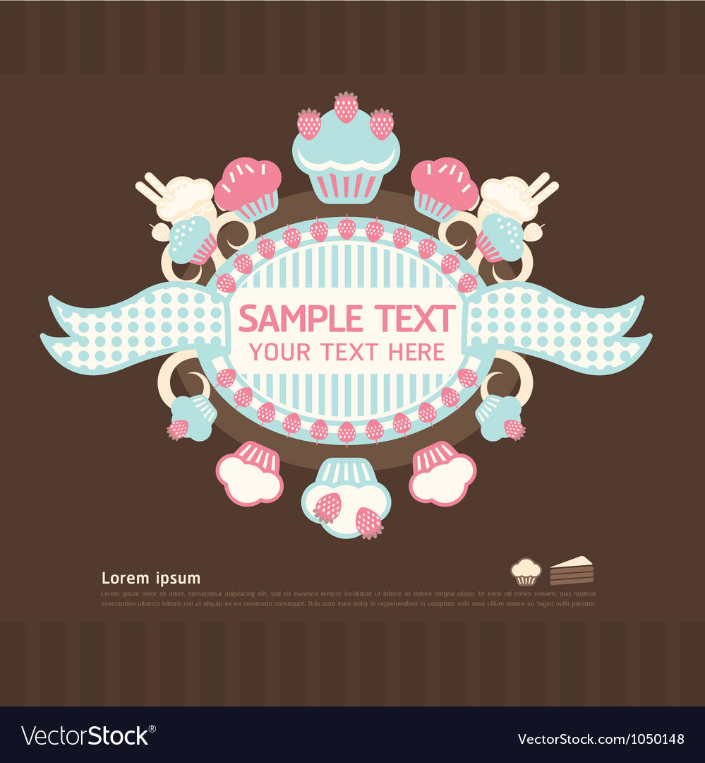 Cake cards vector