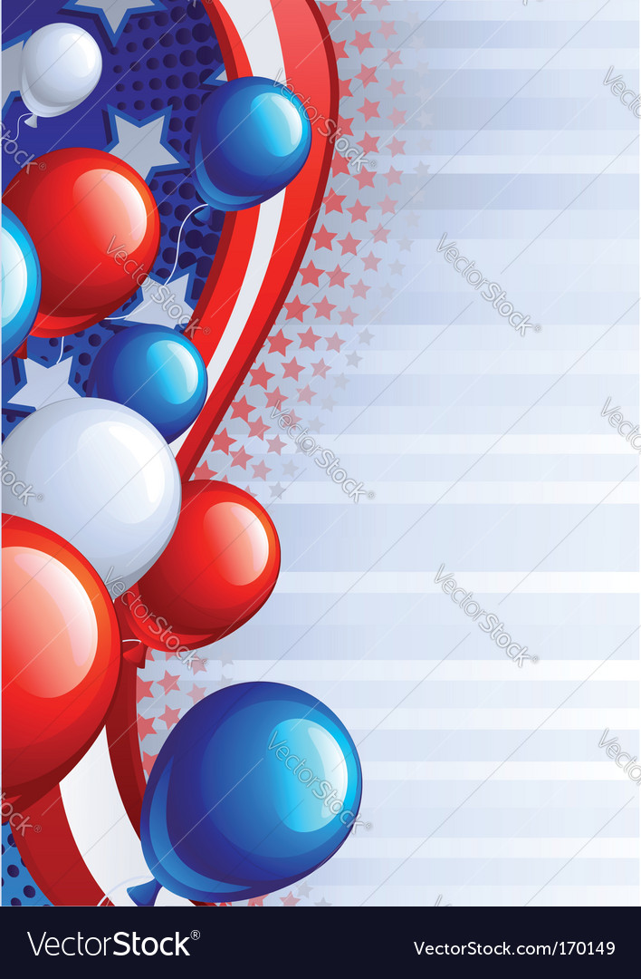 Independence day background vector