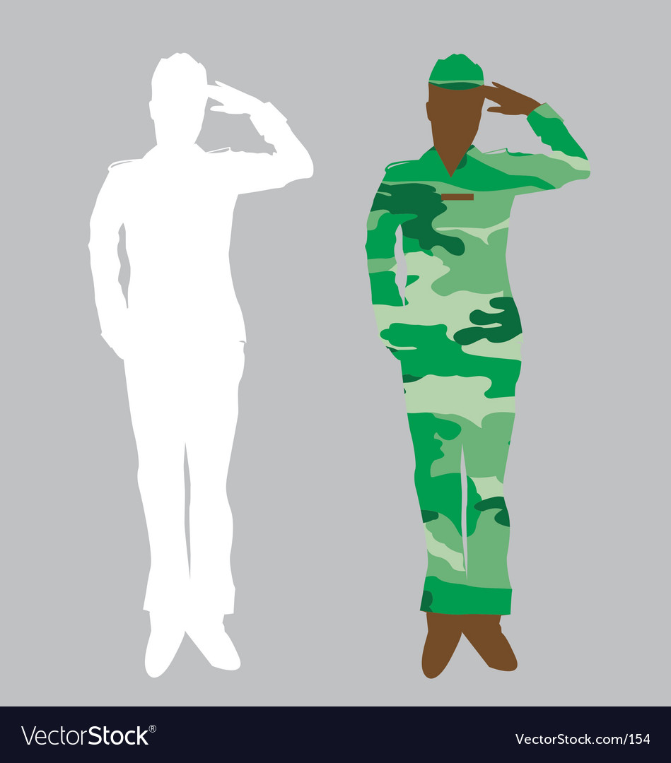 Free army officer vector