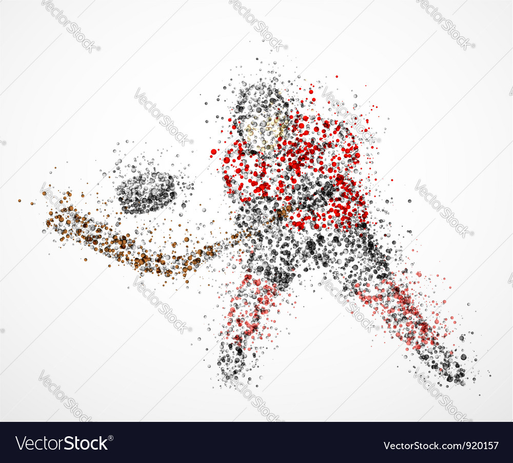 Abstract hockey player vector