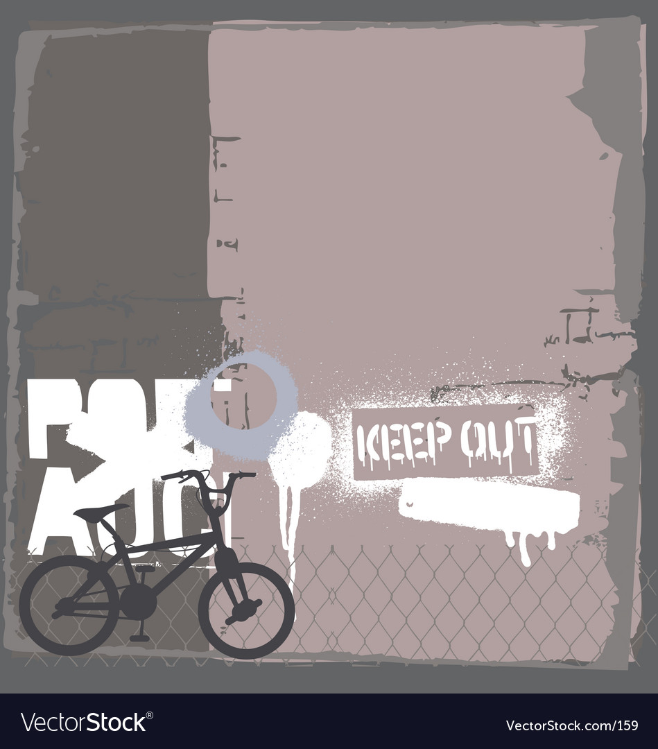 Free bmx bike on the wall vector