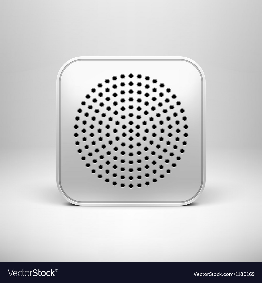 Technology app icon blank template vector